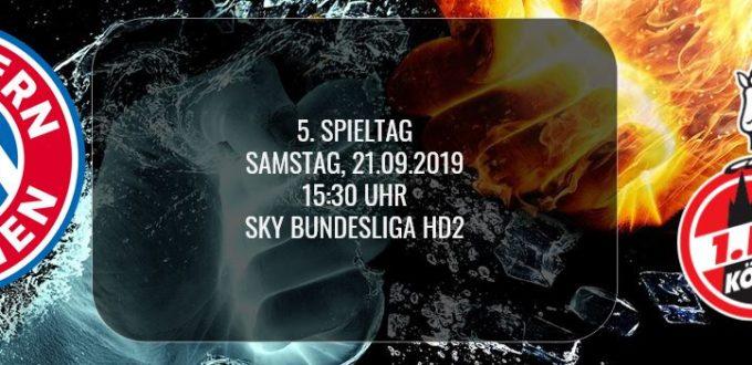 Fussball heute: Bundesliga-Spiel zwischen FC Bayern München und 1.FC Köln