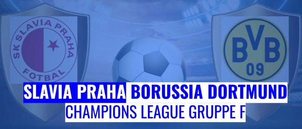 Fussball heute Slavia Praha vs Borussia Dortmund