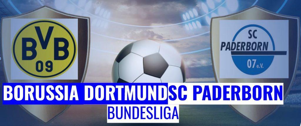 Fussball heute Dortmund vs Paderborn Bundesliga