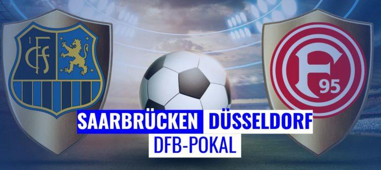 Fussball heute - DFB Pokal Saarbrücken - Düsseldorf
