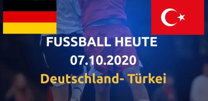 Fussball heute Deutschland - Türkei01